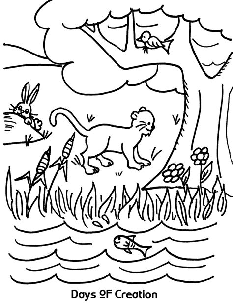 days of creation coloring pages days of creation coloring sheet wesleyan