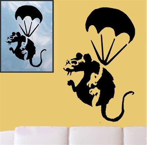 banksy style etsy banksy parachute rat stencil reusable craft painting