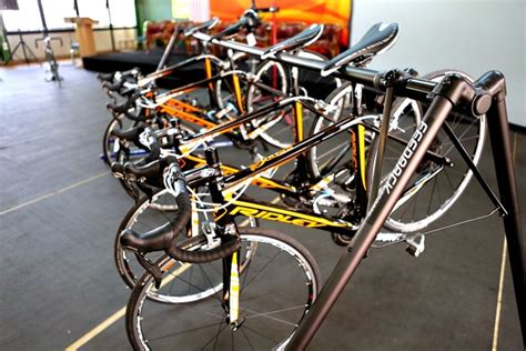 a frame bicycle event stand actionbods singapore and ridley bicycle belgium the