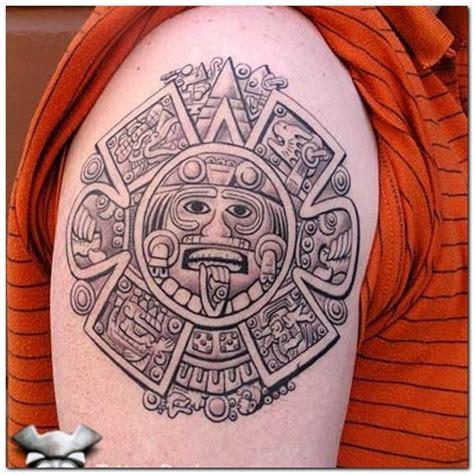 aztec calendar tribal tattoos collection of 25 biceps aztec sun