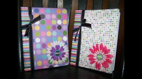 diy decorated recycled notebook youtube