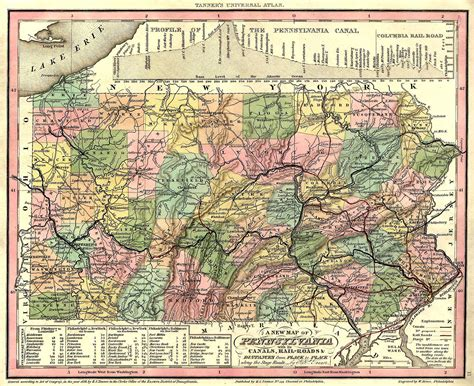 map of penn pagenealogy net pennsylvania historical maps