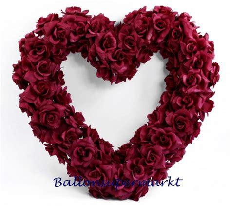 Hochzeitsdeko Versand by Ballonsupermarkt Onlineshop De Blumen Herz Dunkelrot