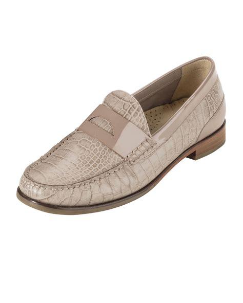 cole haan crocodile loafers cole haan laurel crocodile embossed loafer in beige null