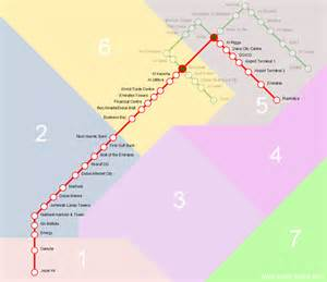 Metro Redline Map by Detail Dubai Metro Red Line Stations And Route Map