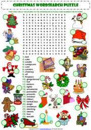 christmas esl printable worksheets and exercises