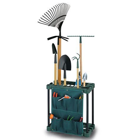 garden tool storage rack gardening caddy shed equipment