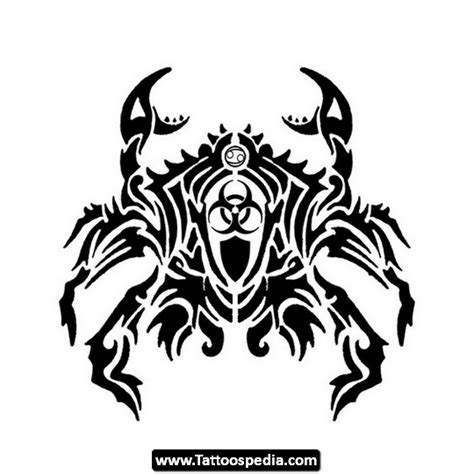 tattoo tribal zodiac designs tribal cancer zodiac tattoo stencil tattooshunt com