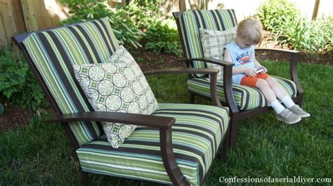 Diy Patio Chair Cushions Sew Easy Outdoor Cushion Covers Oldie But Goodie Confessions Of A Serial Do It Yourselfer