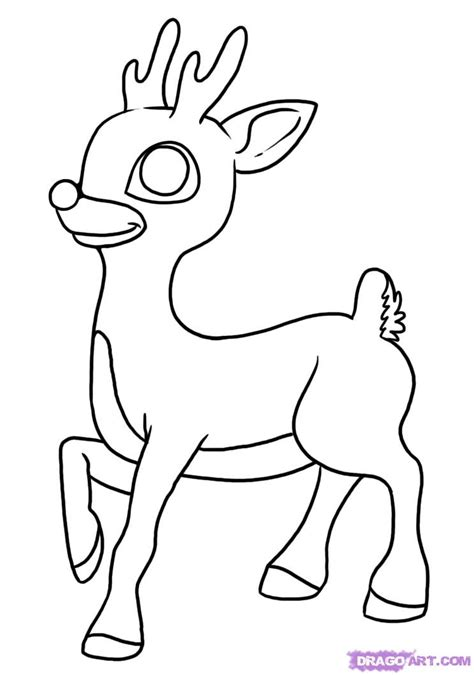 rudolph the nosed reindeer template how to draw rudolph the nosed reindeer step by step