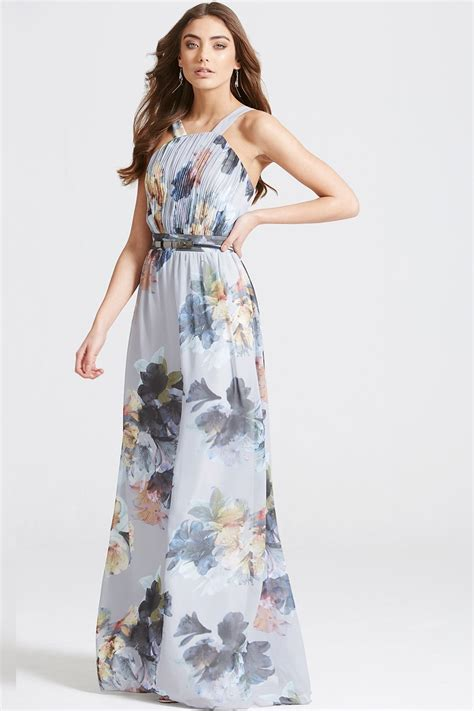Maxi Flowery Dress floral print occasion maxi dress from uk