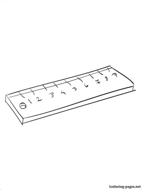 free coloring pages of centimeter ruler ruler coloring page coloring pages
