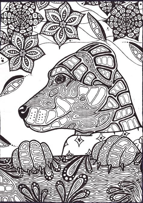 dog mandala coloring page archeia v3 by lindseyrossink deviantart adult