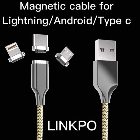 Micro Usb Lightning Charging Cable Fish Net s8 magnetic cable mag usbc linkpo china manufacturer