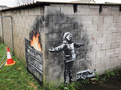 banksy mural attacked  drunk halfwit  independent
