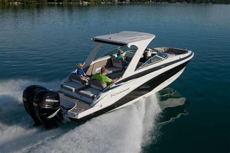 crownline boat with outboard crownline e29 xs review boats