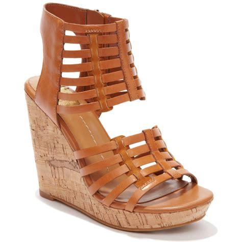 dolce vita dv by tila platform wedge sandals in brown
