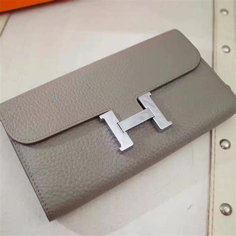 Hermes Togo Grey hermes constance wallet togo leather grey 148 00 replica