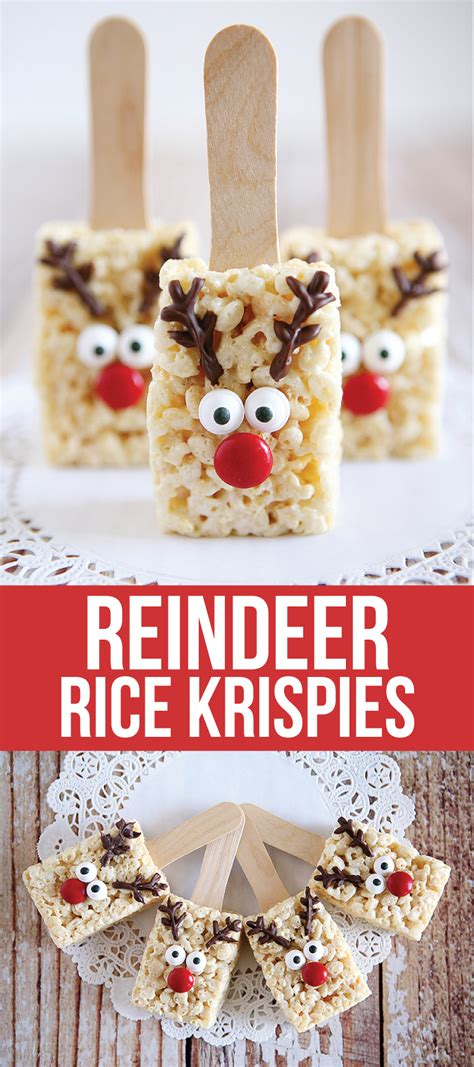 reindeer rice krispie treats rice krispies rice and recipes