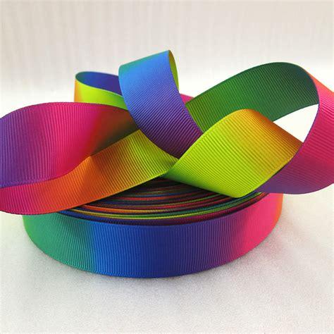 Ribbon Handmade - 10y43714 1 quot 25mm rainbow ribbon high quality printed