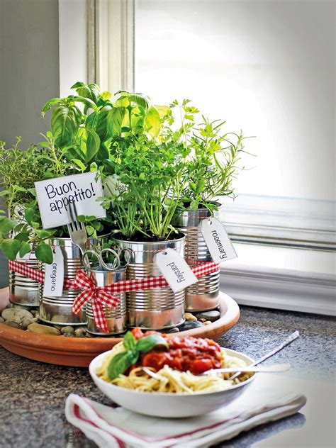 kitchen herb grow your own kitchen countertop herb garden hgtv