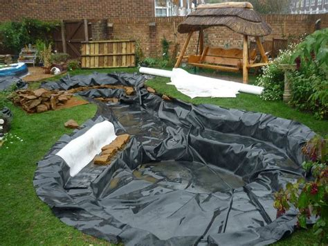 installing a backyard pond how to install garden pond liner gardening flowers 101