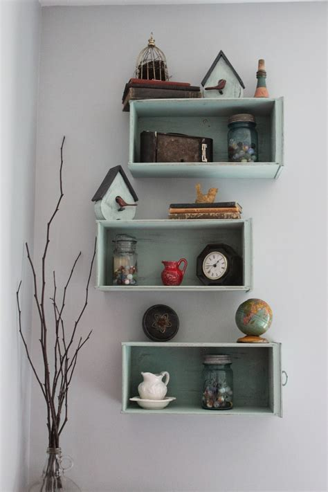 Turn Drawers Into Shelves by Namely Original Drawers Turned Shelves