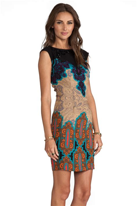 Tracy Reese Tangiers Tote by Tracy Reese Medallion Sarasatic Print Placement Shift