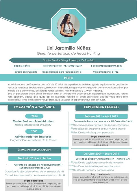 Modelo Curriculum Vitae Colombia Suricatum Formatos De Hoja De Vida