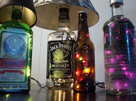 How To Decorate Empty Liquor Bottles by Home Designers Pro Custom Made Liquor Bottle Ls You Choose The Bottle Lights And Shade