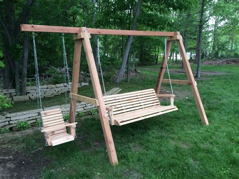 toddler swing frame 6ft cedar porch swing on a frame with toddler swing yelp
