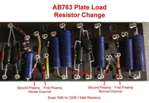 plate load resistor values ab763 mods