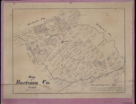 map of burleson texas map of burleson county texas the portal to texas history