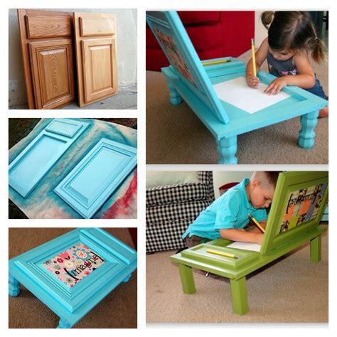desk made from door diy child s art desk made out of old cabinet door