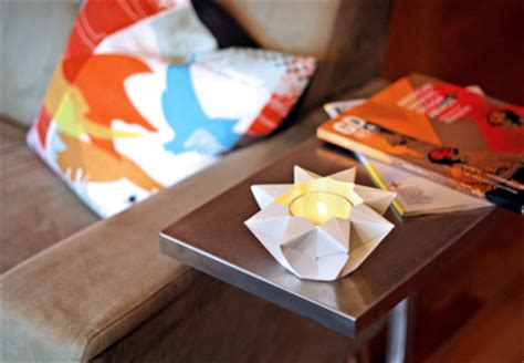 How To Make A Paper Candle Holder - make an origami lantern how about orange