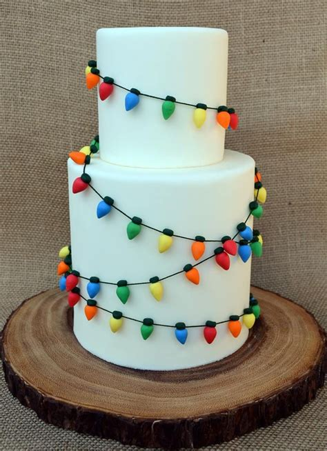 christmas light cake by sugar design a piece of cake