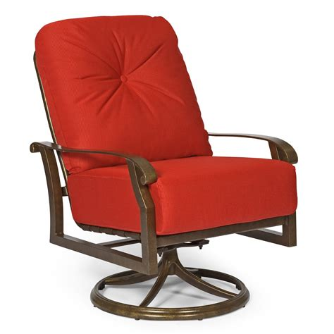Swivel Patio Chairs By Foremost by Woodard Cortland Cushion Swivel Rocking Lounge Chair