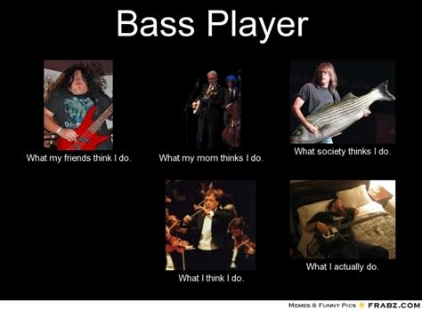 Bass Player Meme - what bass players actually do ugly bass face