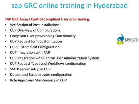 Sap Courses For Mba Hr In Hyderabad by Sap Grc In Hyderabad