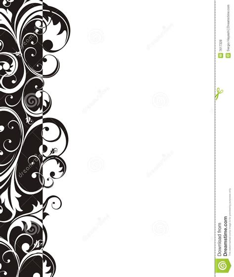 retro style border page stock vector image of isolated