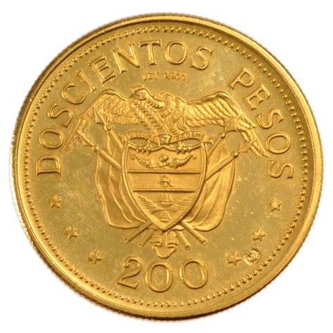 comptoir de monnaies monnaies colombie coins colombia colombie 200 pesos or