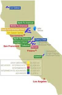 california for beginners map california river rafting