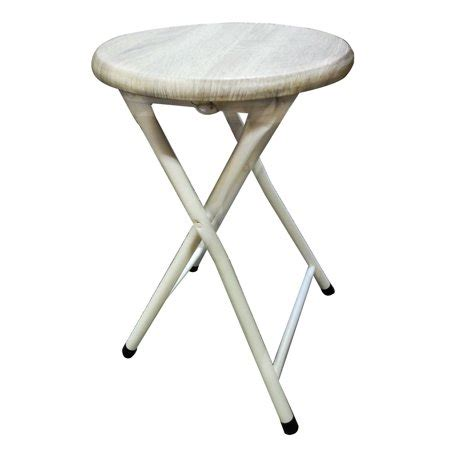 Portable Folding Bar Stool by Portable Small Beige White Folding Stool Bar With Lock