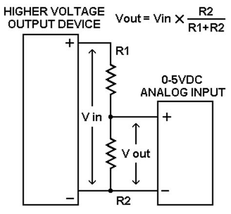 reducing voltage using resistors using a 0 5 volt dc analog input to read other signal levels