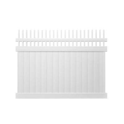 Picket Fence Sections Home Depot by Pro Series 6 Ft X 8 Ft Woodbridge Privacy Picket Top