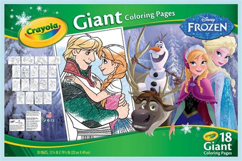 crayola giant coloring pages frozen amazon com crayola frozen giant coloring pages toys games