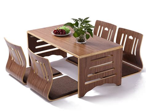low dining room tables 5pcs set modern japanese style dining table and chair