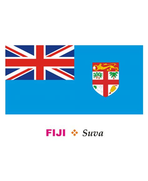 Fiji Flag Coloring Pages For Kids To Color And Print Fiji Flag Coloring Page