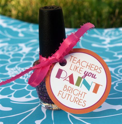 Printable Nail Polish Gift Tags | teacher nail polish gift tags instant printable by