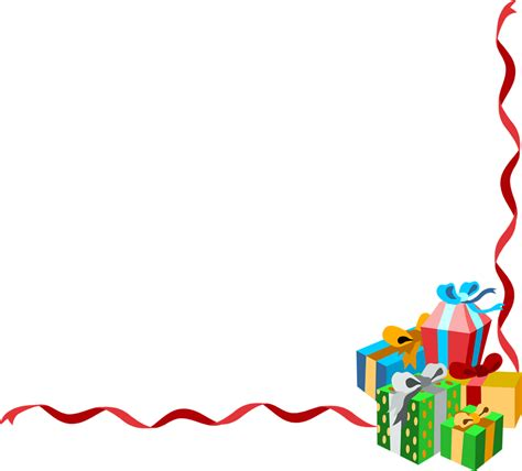 Clipart Border Of Gifts And by Borders Search Borders Clip